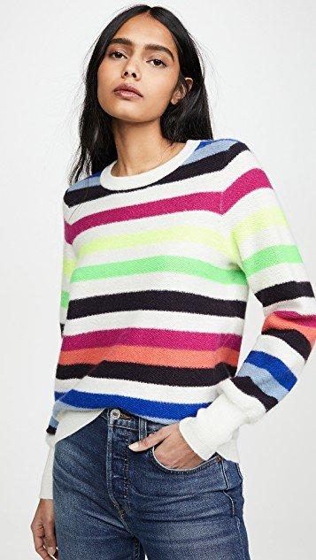 Bold Stripe Cashmere Sweatshirt