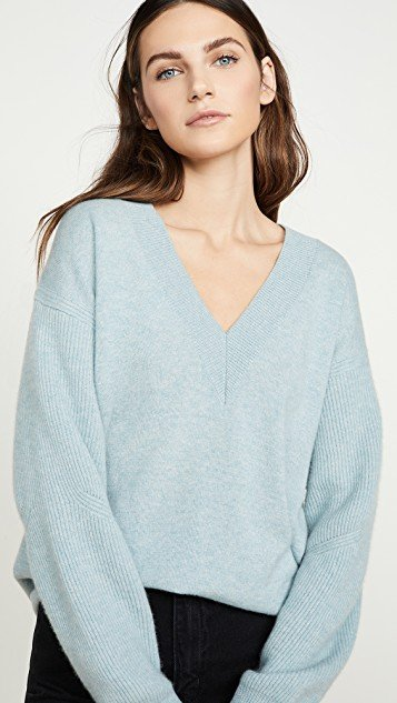 Logan Cashmere V Neck Sweater