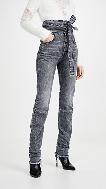 Stonewash Corset Sraight Leg Jeans