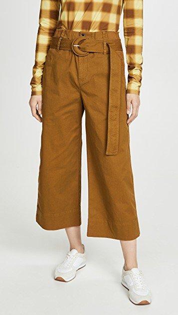 Cotton Paperbag Pants