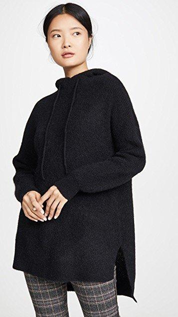 Soft Wool Knit Hoodie