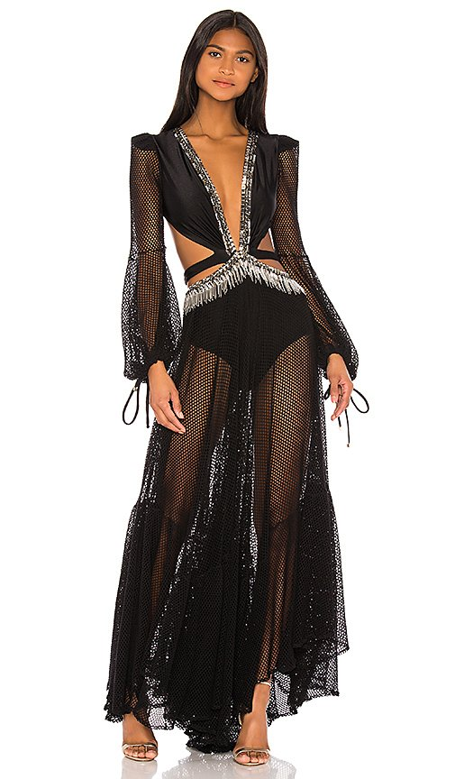 x REVOLVE Cutout Long Sleeve Gown