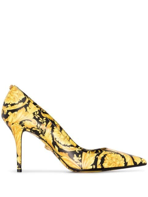 Versace Baroque Print 85mm Pumps - Farfetch