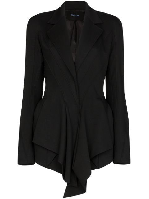 Mugler Draped Fitted Blazer - Farfetch