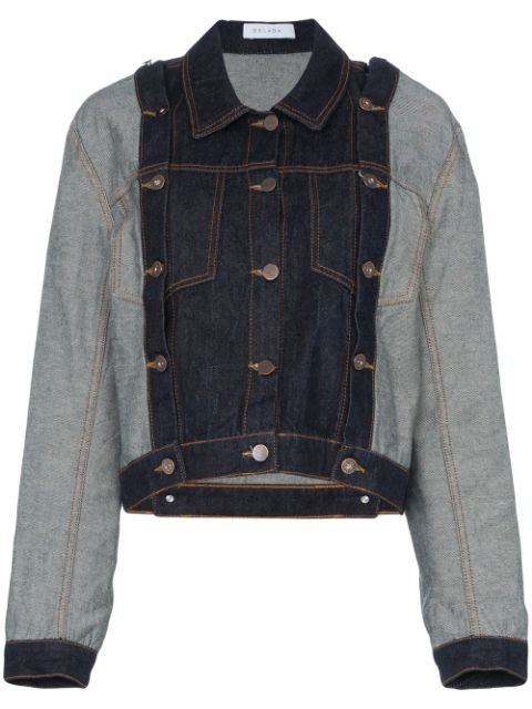 Delada Detachable Sleeve Cropped Denim Jacket - Farfetch