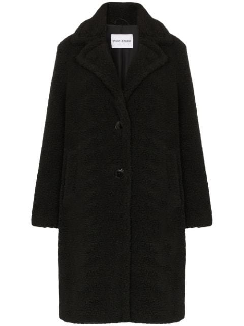 Stand Studio Lisen Teddy Fleece Coat - Farfetch