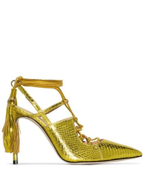 Liudmila Bellatrix 100mm snakeskin-effect Pumps - Farfetch