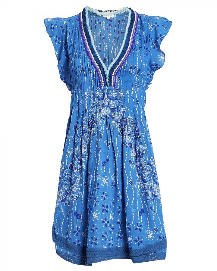 Sasha Lace-Trimmed Paisley Dress