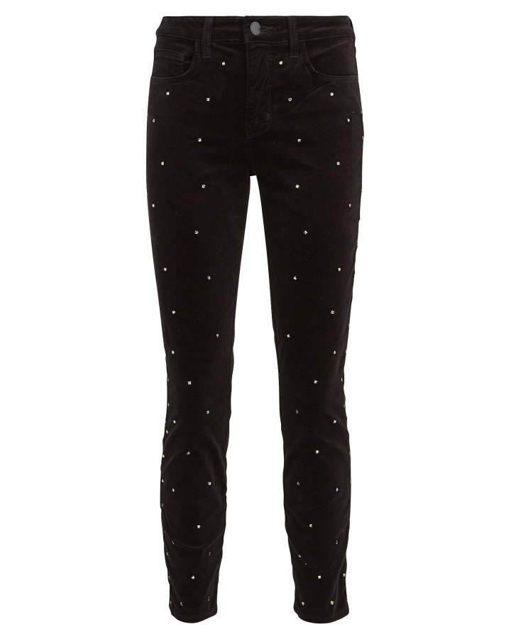 Margot Scattered Crystal Skinny Jeans