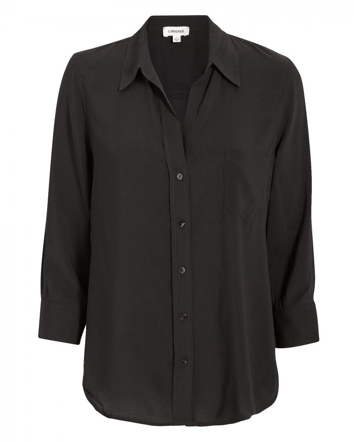 Ryan Silk Button Down Blouse