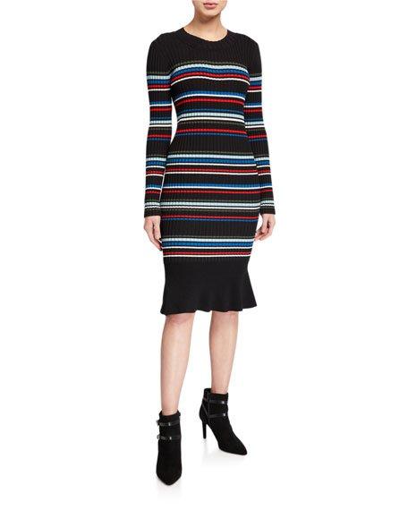 Bruna Knit Striped Dress