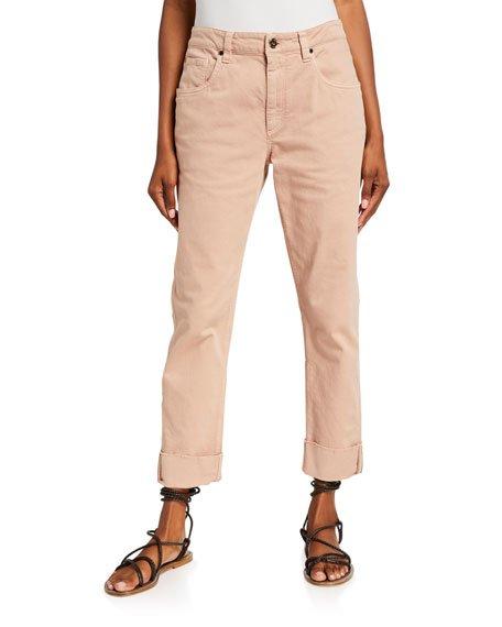Garment Dyed Straight-Leg Jeans