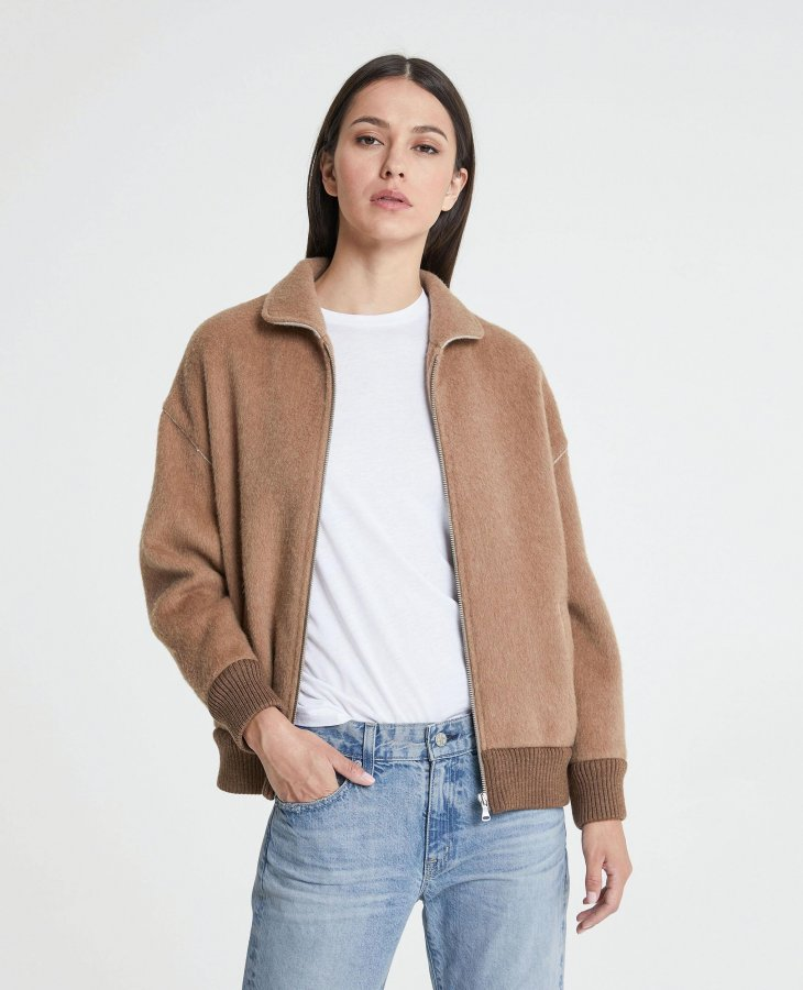 The Sonnet Bomber in Tawny Toffee   AG Jeans Official Store