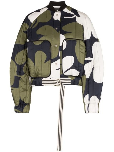 Lee Mathews Floral Pattern balloon-sleeve Bomber - Farfetch