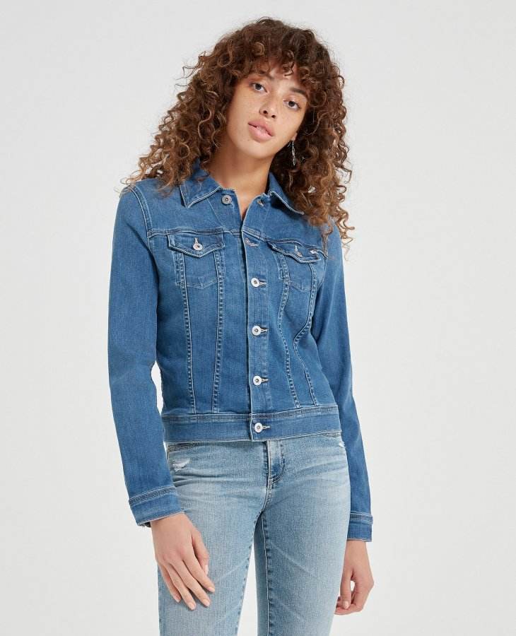 The Robyn Jacket in Blue Lucent   AG Jeans Official Store