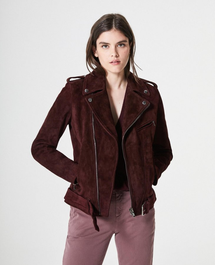 The Reese Moto Jacket in Rhubarb   AG Jeans Official Store