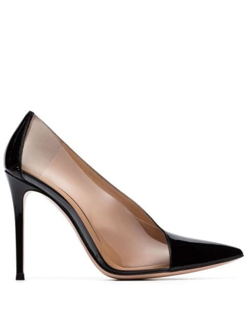 Gianvito Rossi 105mm Transparent Panel Pumps - Farfetch