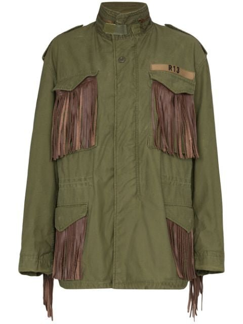 R13 M65 Fringed Cotton Cargo Jacket - Farfetch