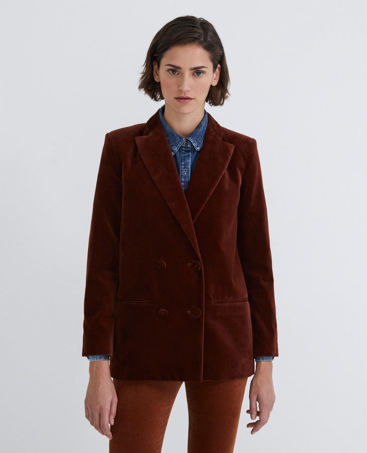 The Renzo Blazer in Cognac   AG Jeans Official Store