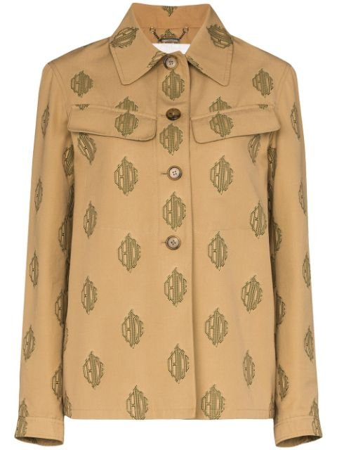 Chloé Monogram Print Shirt Jacket - Farfetch