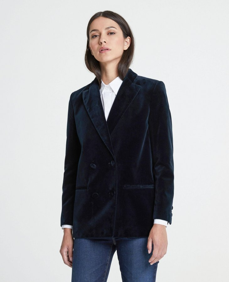 The Renzo Blazer in Blue Vault   AG Jeans Official Store