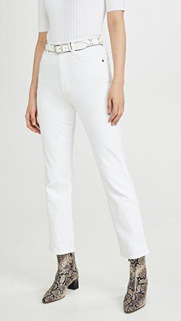Pinch Waist Hi Rise Kick Jeans
