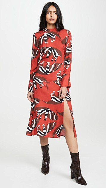 Winter Jungle Midi Dress