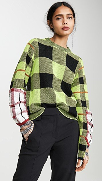 Check Knit Pullover