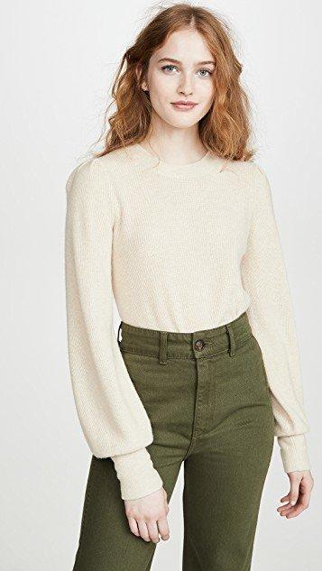 Nanhi Wide Cuff Puff Sweater