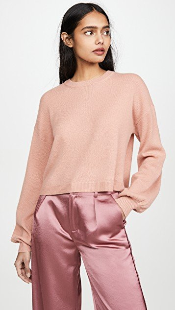 Ansley Crop Cashmere Pullover