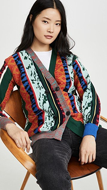 Wide Rib Knit Cardigan