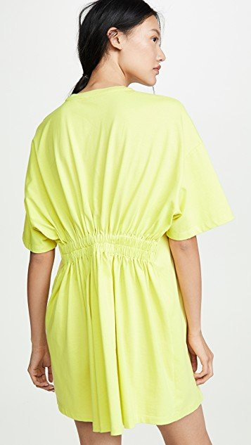 Elastic Back Tee Dress
