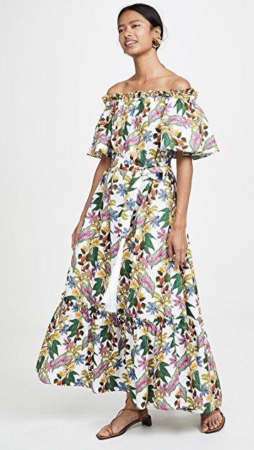 Mona Off The Shoulder Maxi Floral Dress