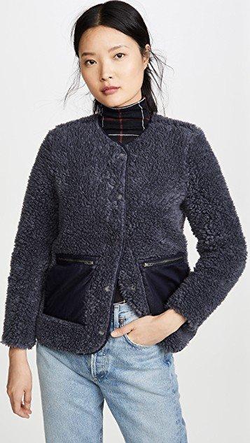 Blue Sherpa Jacket