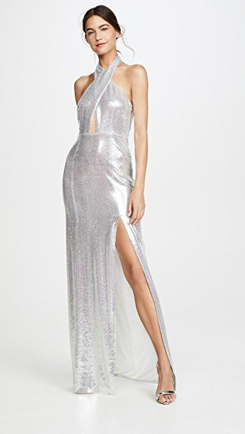 Galaxy Flyover Sequined Dress
