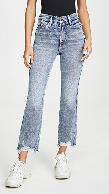 Good Curve Straight Frey Hem Jeans