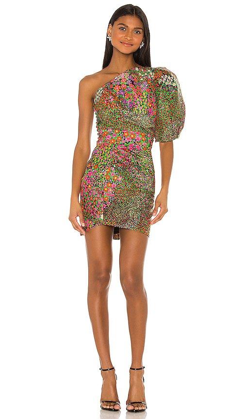 Floral One Shoulder Mini Dress