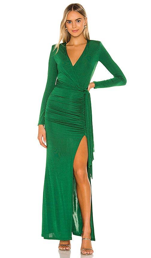 Kyra Deep V Drapey Maxi Dress