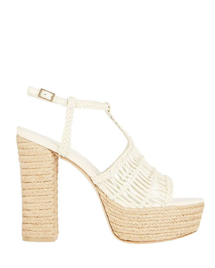 Thea Woven Leather Espadrille Sandals