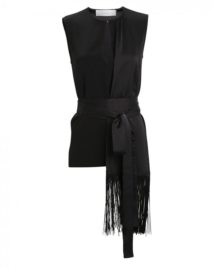Fringed Scarf Top