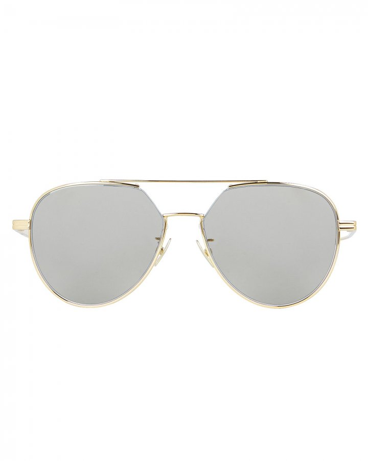 Silver Flash Aviator Sunglasses