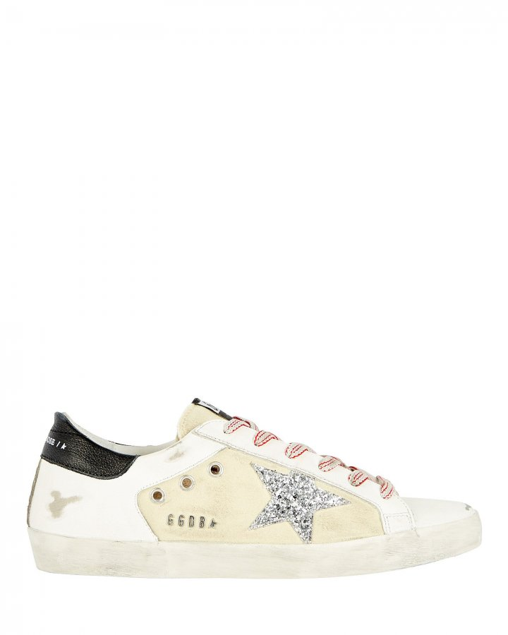Superstar Leather-Trimmed Canvas Sneakers