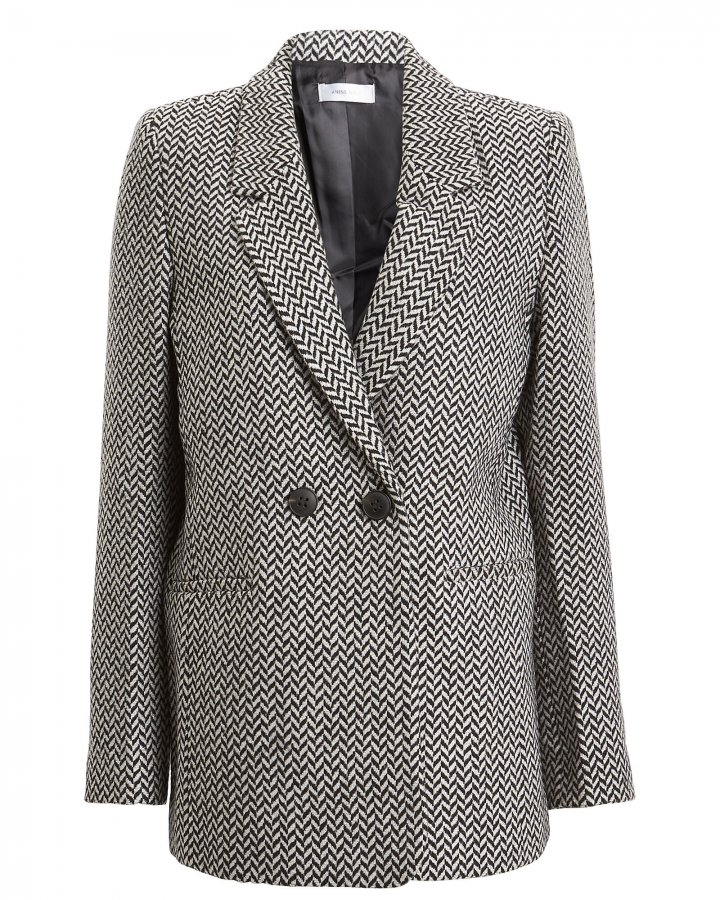 Fishbone Double-Breasted Blazer