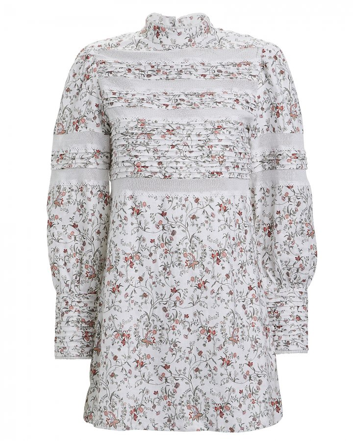 Haisley Floral Linen Shift Dress