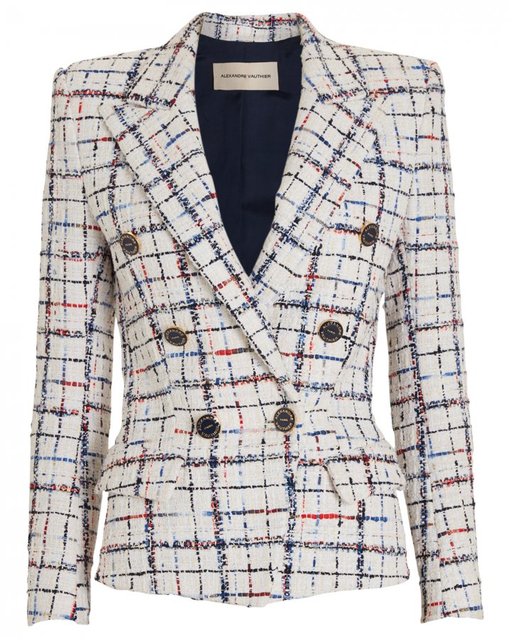 Rainbow Tweed Checked Blazer