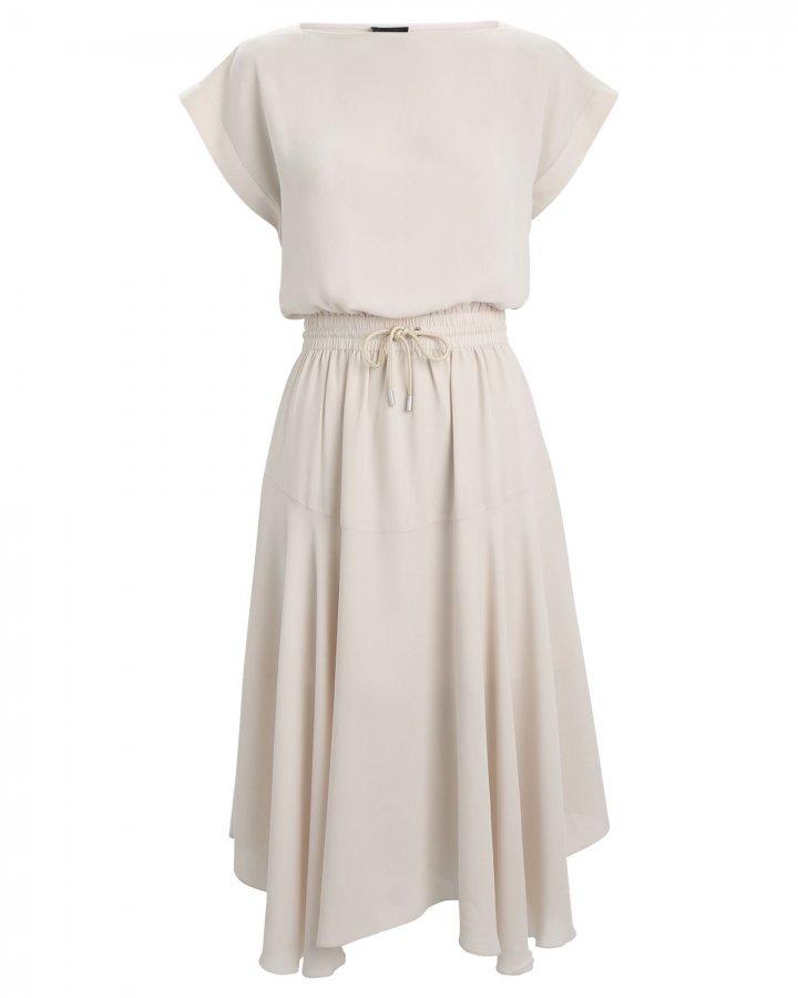 Gathered Georgette Midi Dress