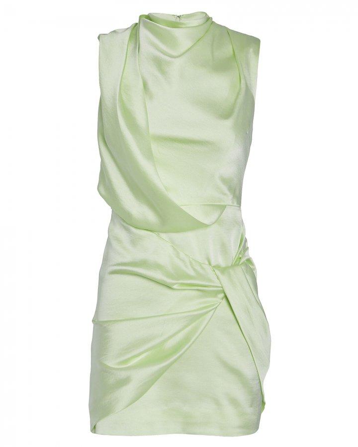 Jasper Draped Satin Mini Dress
