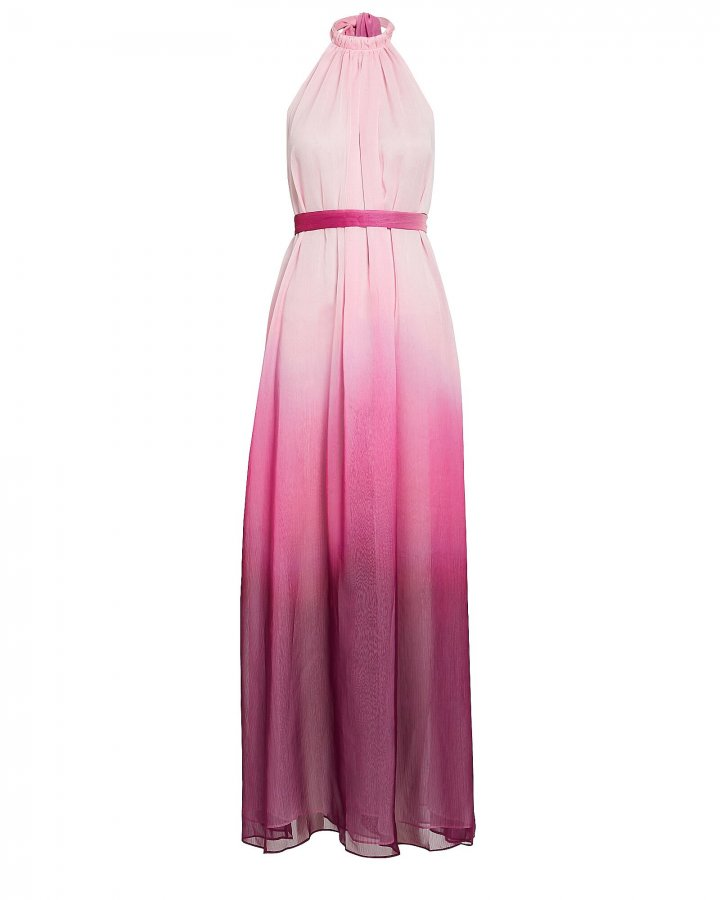 Ombré Halter Maxi Dress