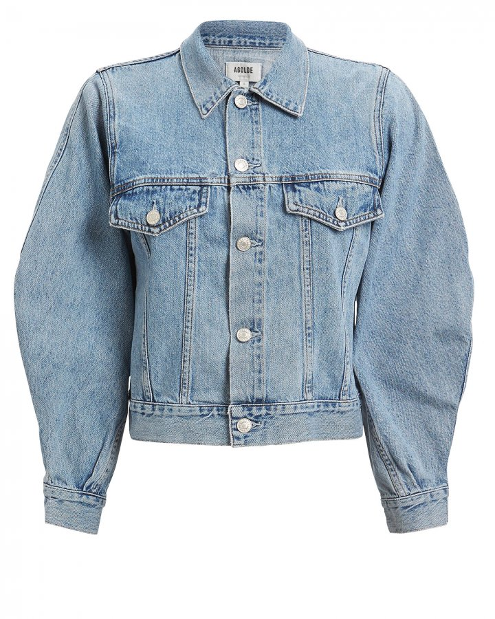 Alix Balloon Sleeve Denim Jacket