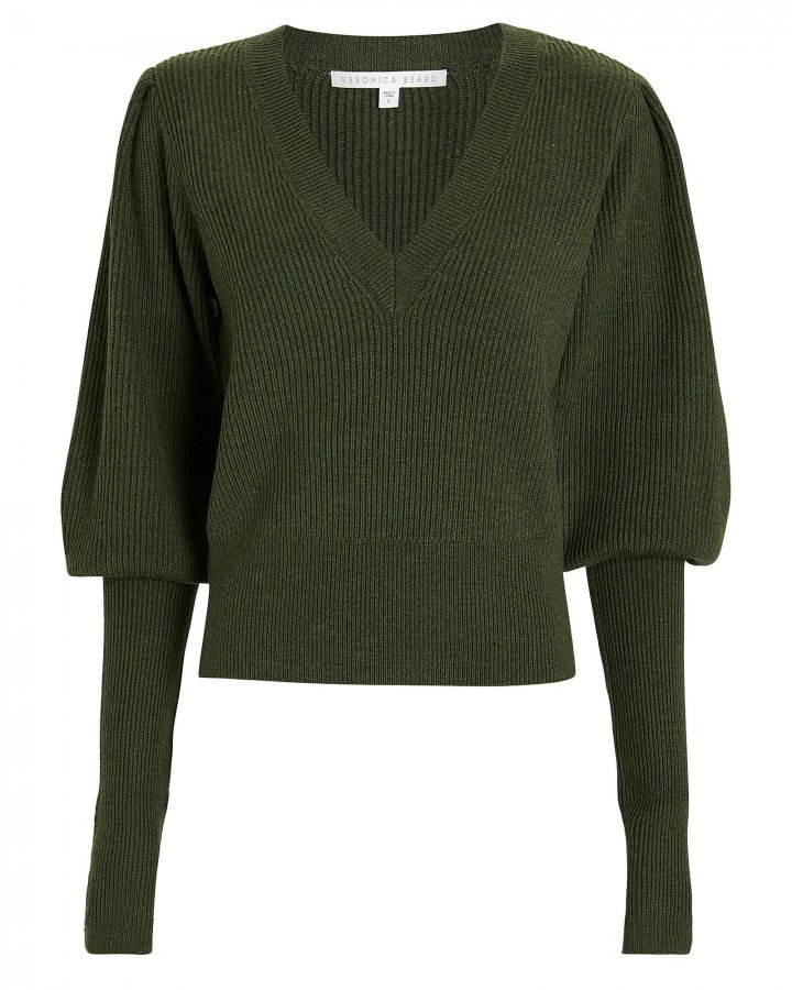 Esme Puffed Sleeve Merino Wool Sweater